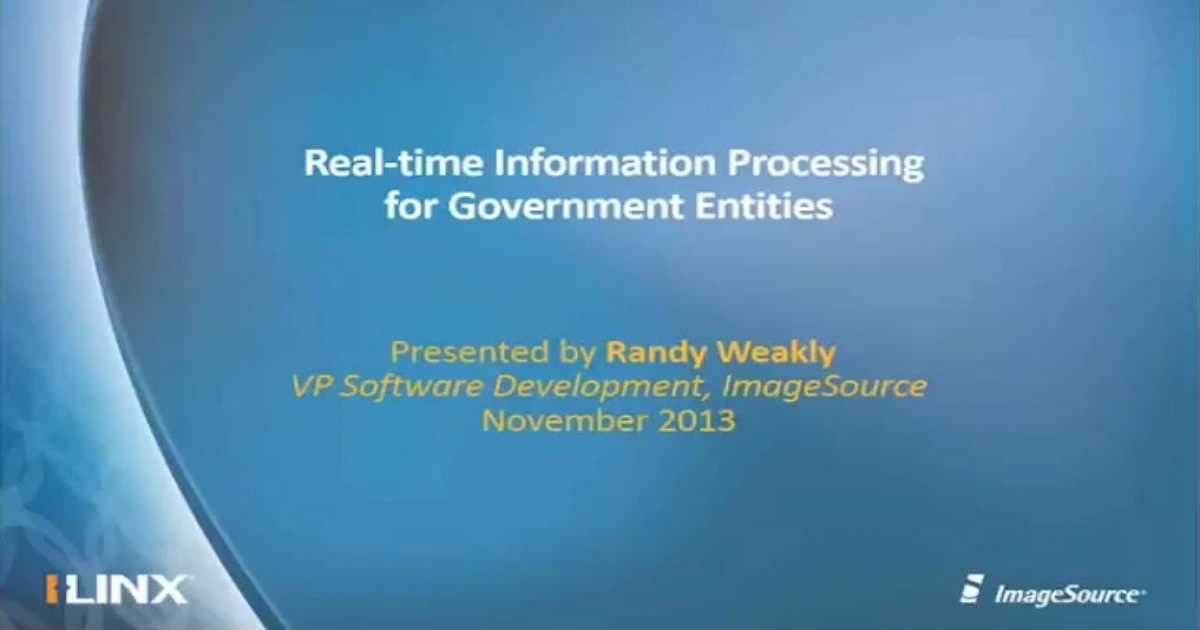 ECM Webinar Real-time Information Processing for Government Entities