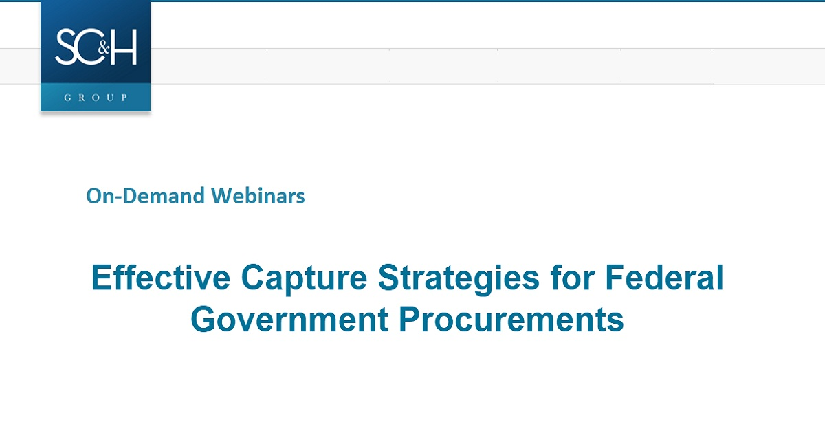 Effective Capture Strategies for Federal Government Procurements