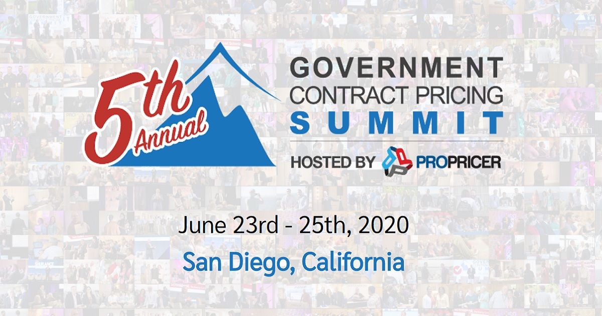 THE GOVERNMENT CONTRACT PRICING SUMMIT