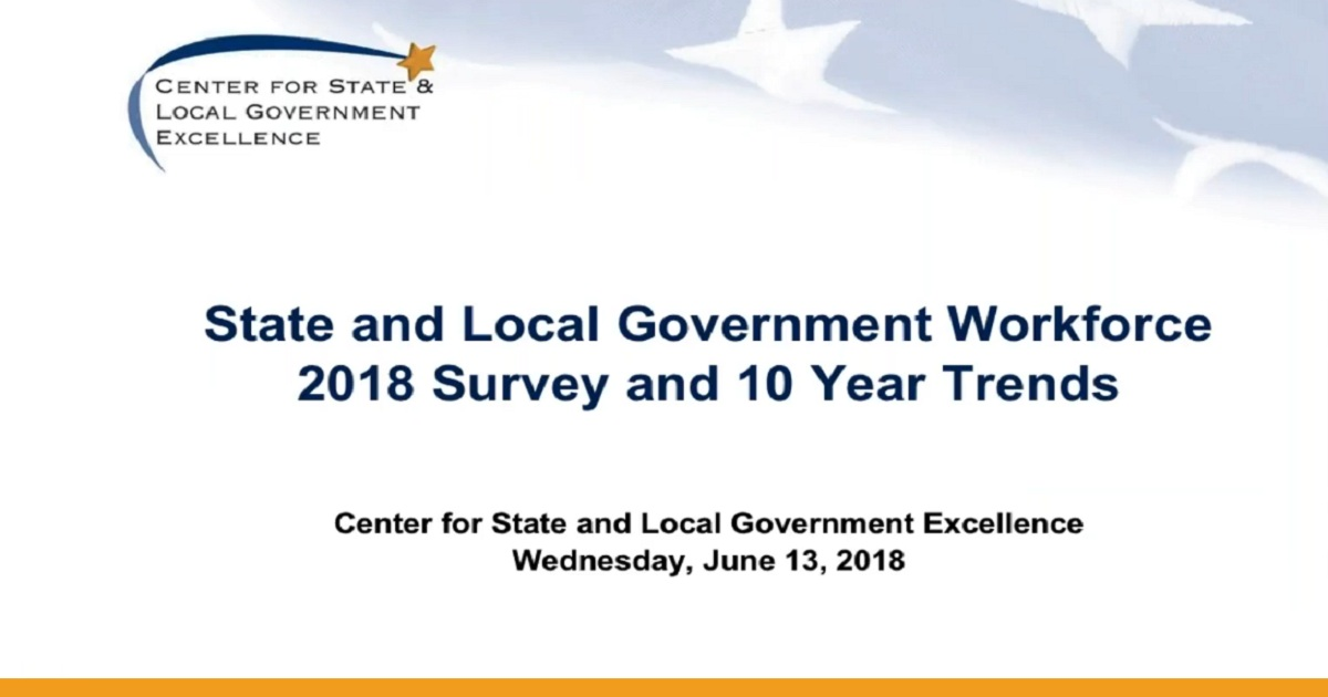 State and Local Government Workforce 2018 Data and 10 Year Trends